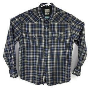 Lucky Brand Flannel Pearl Snap Western Shirt